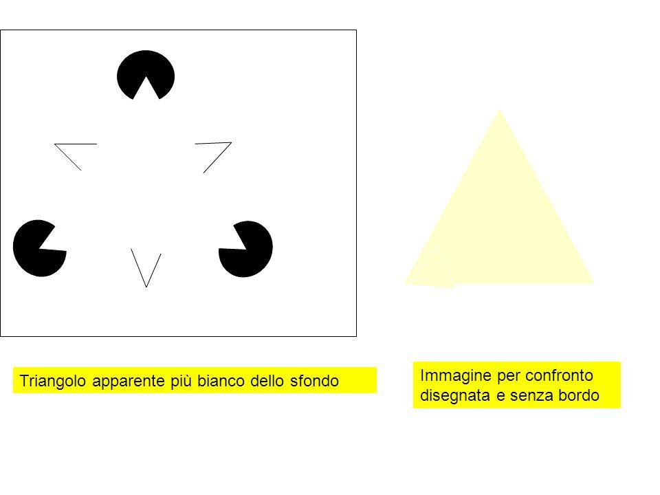 Triangolo apparente più bianco dello sfondo Immagine per confronto disegnata e senza bordo