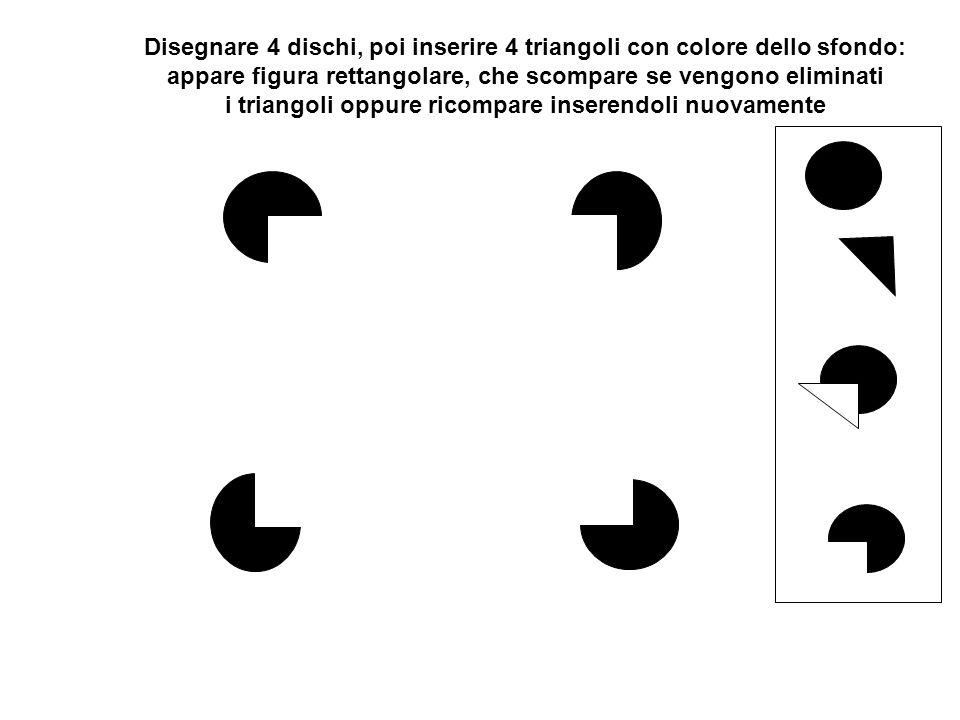 Disegnare 4 dischi, inserire immagine (reale) rettangolo