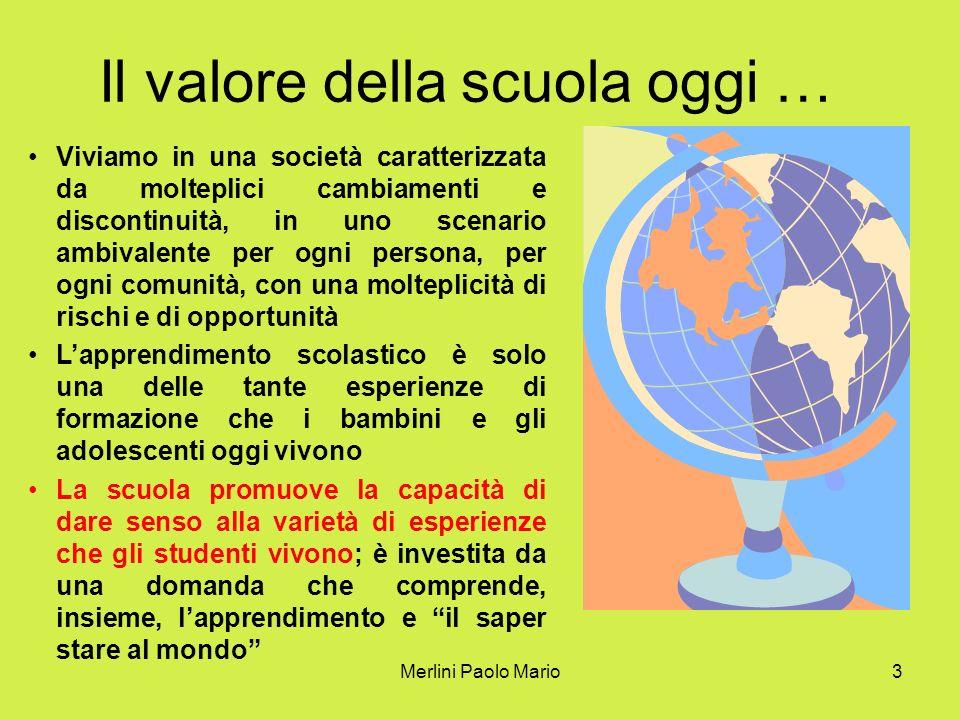 Merlini Paolo Mario4 Imparare ad ESSERE Imparare a FARE Imparare a CONOSCERE Imparare a VIVERE INSIEME Il progetto della scuola ha 4 pilastri