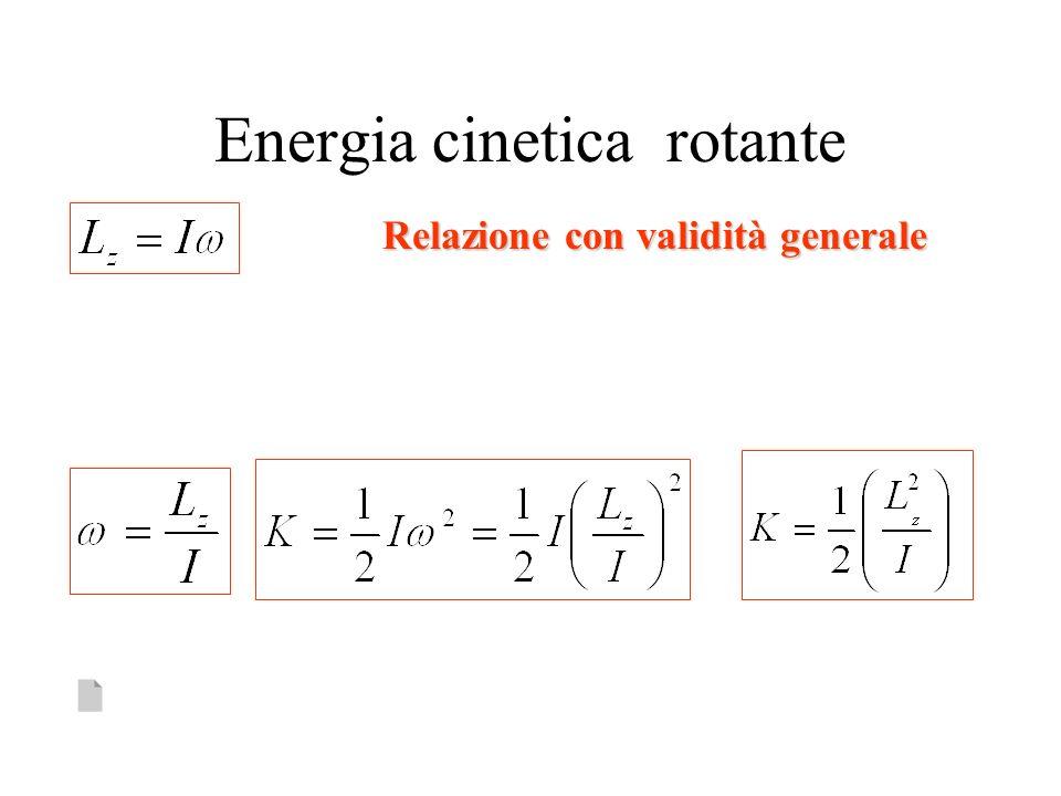 Energia cinetica rotante Relazione con validità generale