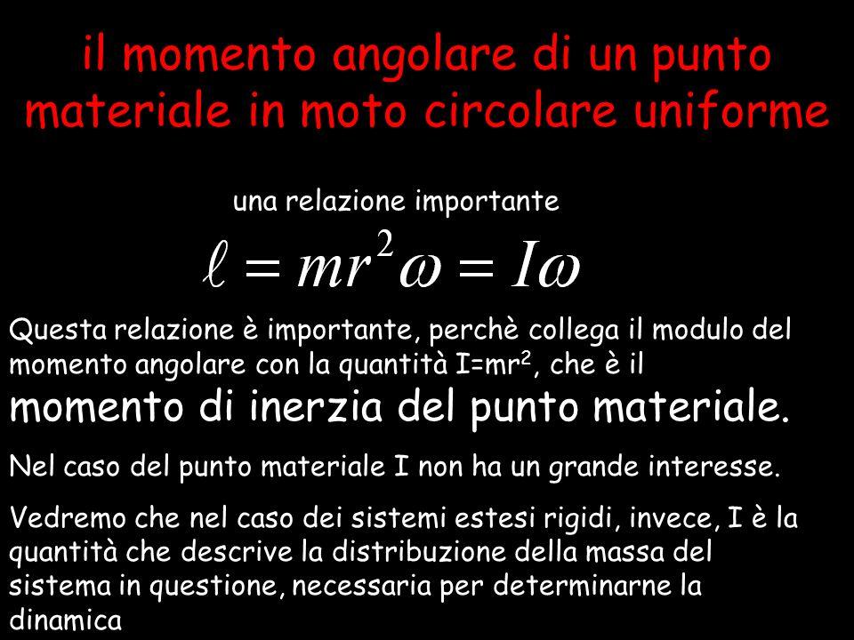 29 il momento angolare di un punto materiale in moto circolare uniforme una relazione importante Questa relazione è importante, perchè collega il modu
