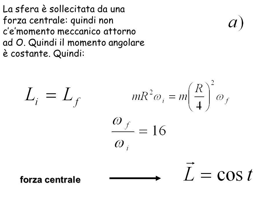 b) Osserviamo che la tensione fornisce la forza centripeta e quindi si ha, da cui: