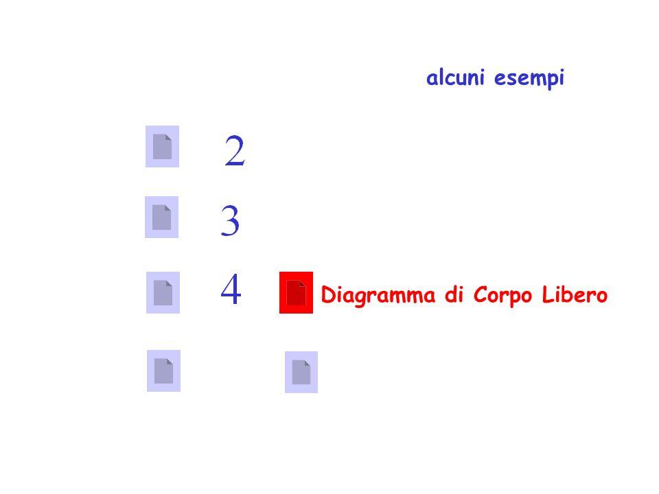 ALCUNI ESEMPI alcuni esempi Diagramma di Corpo Libero