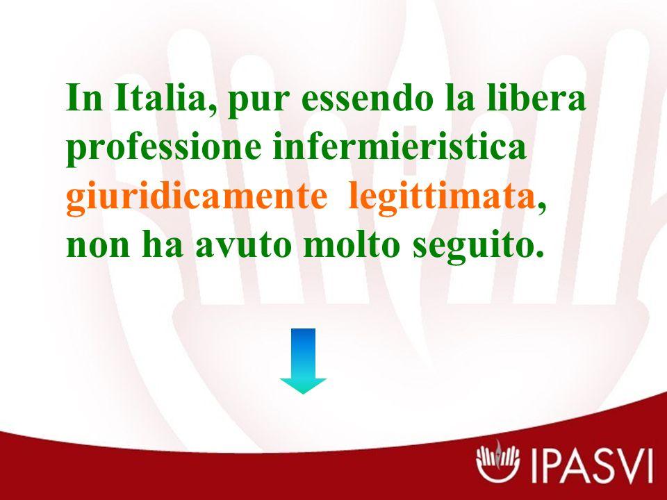 In Italia, pur essendo la libera professione infermieristica giuridicamente legittimata, non ha avuto molto seguito.
