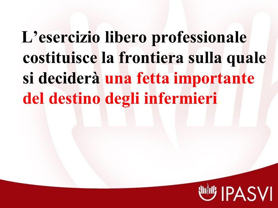 Lesercizio libero professionale costituisce la frontiera sulla quale si deciderà una fetta importante del destino degli infermieri.