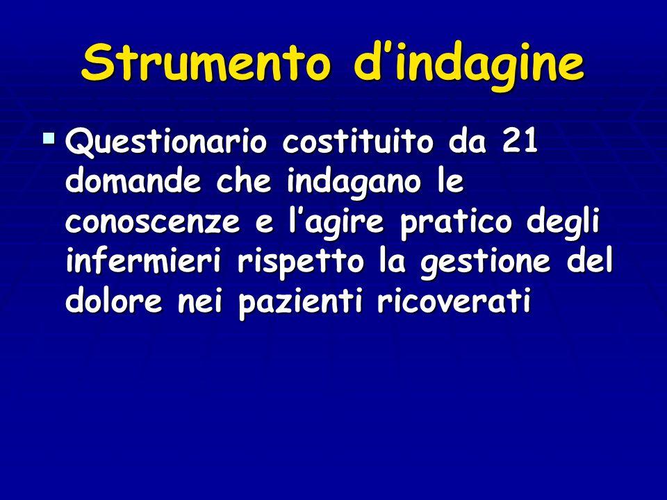LINEE GUIDA OSPEDALE SENZA DOLORE IN ITALIA La misurazione costante del dolore deve essere inserita fra le competenze dellinfermiere, il quale dovra ricevere la formazione opportuna per svolgere tale compito ( accordo conferenza stato-regioni del 24/05/01) ( accordo conferenza stato-regioni del 24/05/01)