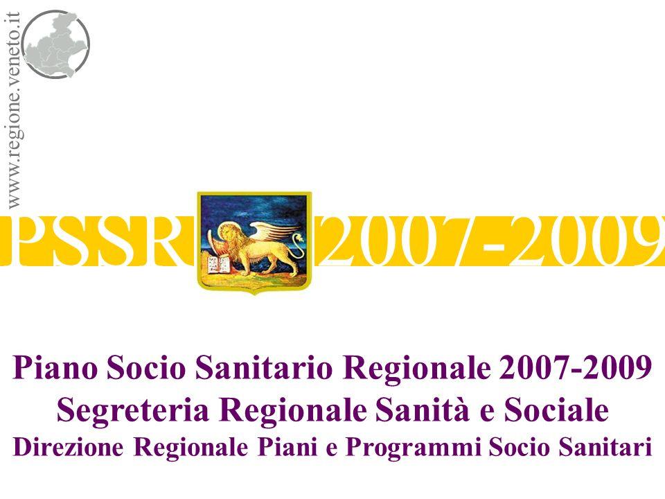 PSSR 2007-2009 Piano Socio Sanitario Regionale 2007-2009 Segreteria Regionale Sanità e Sociale Direzione Regionale Piani e Programmi Socio Sanitari ww
