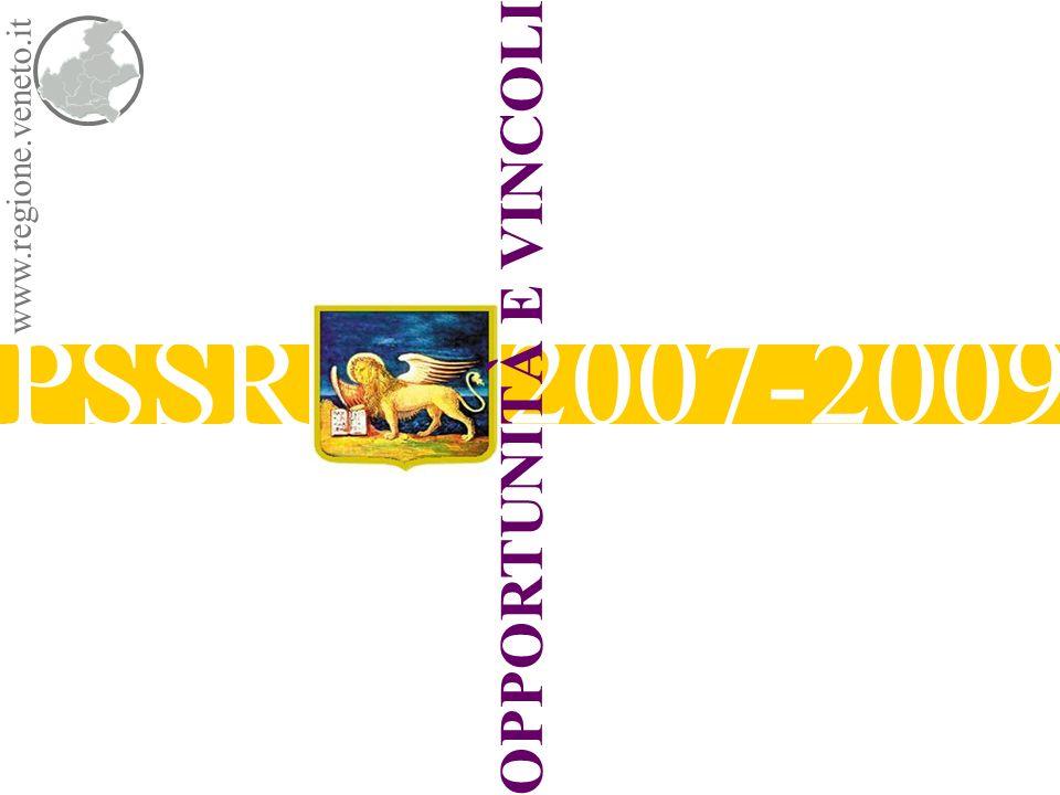 www.regione.veneto.it SSSR & GOVERNANCE PSSR 2007-2009 Direzione RegionalePiani e Programmi Socio Sanitari Regione holding Potenziamento e riqualificazione della struttura di governo regionale Riqualificazione e riprogrammazione dei Centri regionali lorganizzazione centrale