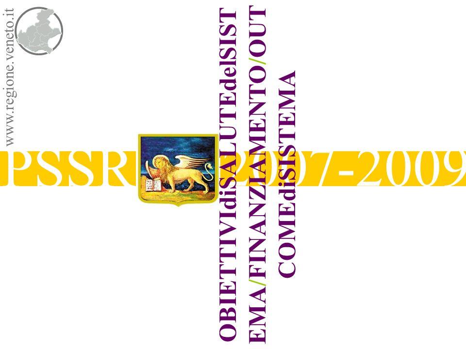 PSSR 2007-2009 www.regione.veneto.it OBIETTIVIdiSALUTEdelSIST EMA/FINANZIAMENTO/OUT COMEdiSISTEMA
