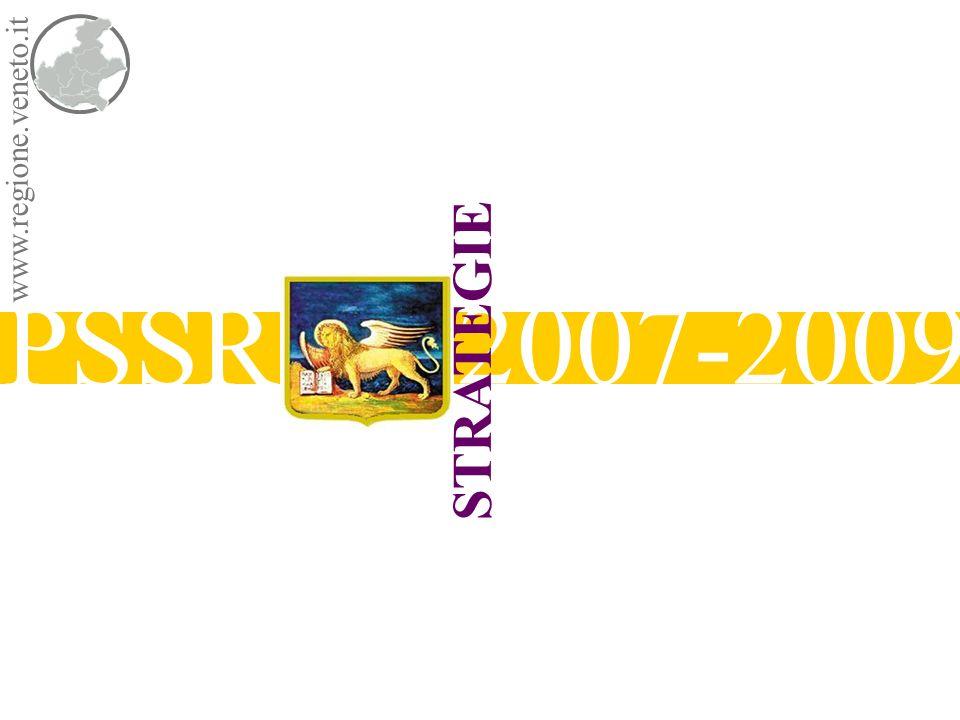 www.regione.veneto.it STRATEGIE PSSR 2007-2009 Direzione RegionalePiani e Programmi Socio Sanitari i principi Universalità Equità dellaccesso alle cure Libertà delle scelte Pluralismo erogativo