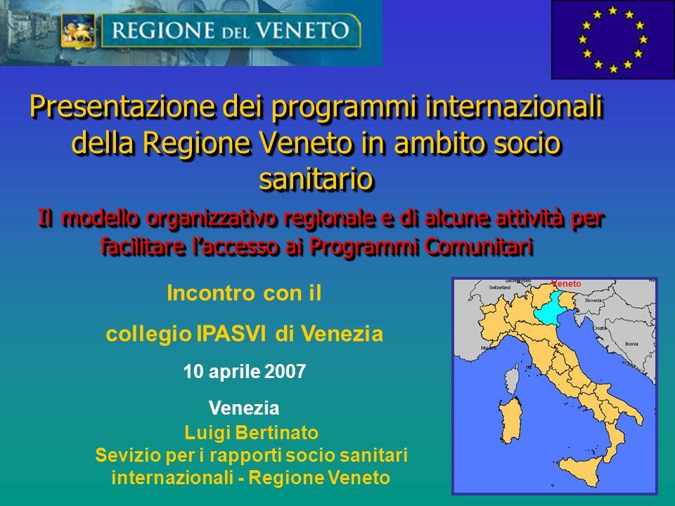 Attuale organizzazione della Segreteria Sanità e Sociale Assessorato alle politiche sanitarie Assessorato alle politiche sociali Segreteria regionale sanità e sociale Dir.