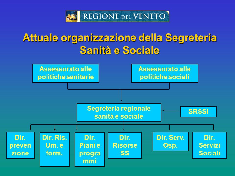 LOrganizazzione del Servizio per i Rapporti Socio- Sanitari Internazionali della Regione del Veneto Venice