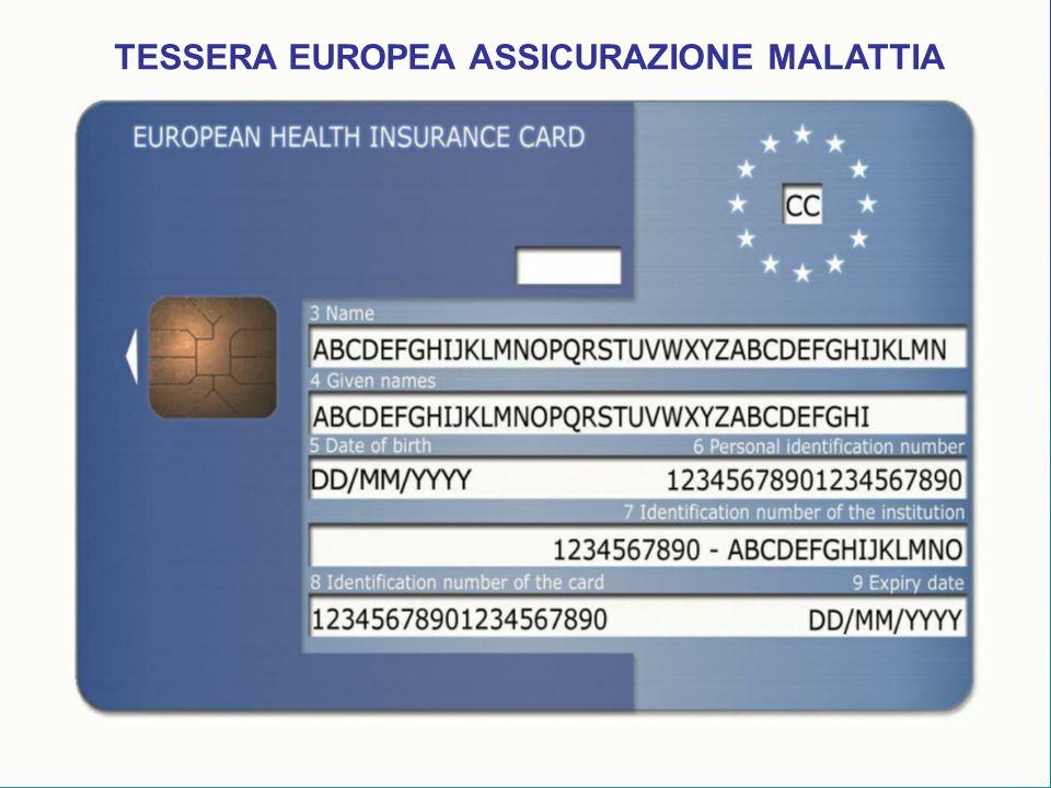 TESSERA EUROPEA ASSICURAZIONE MALATTIA