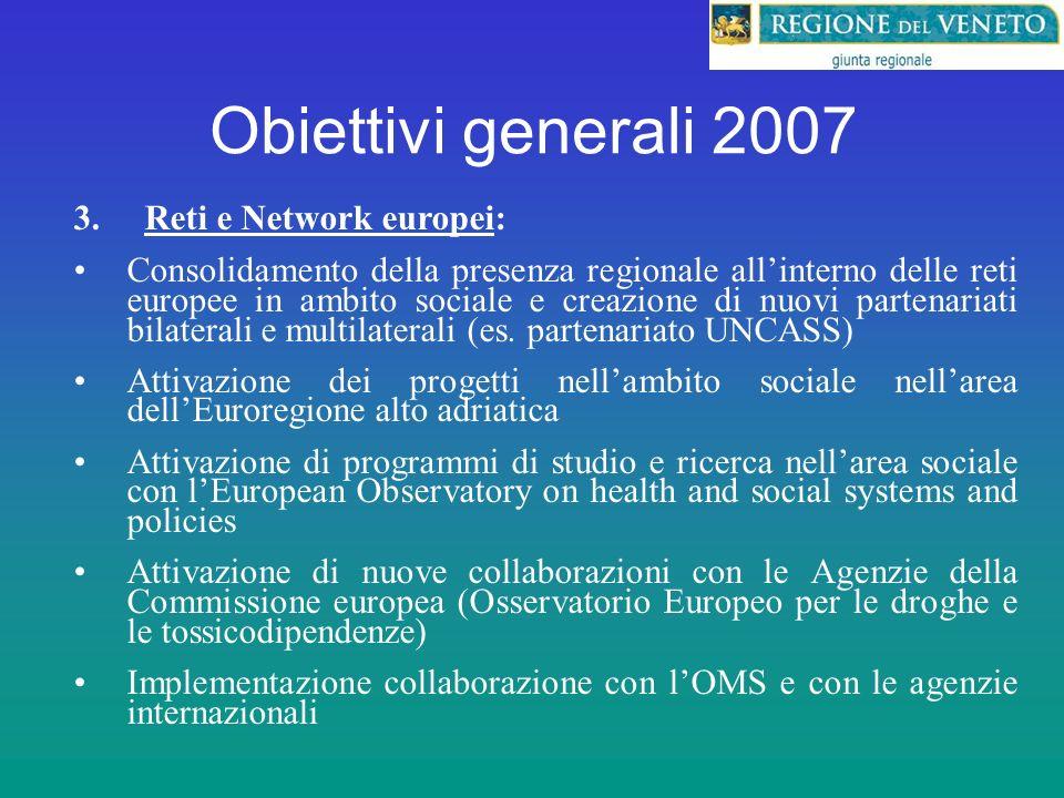Obiettivi generali 2007 3.
