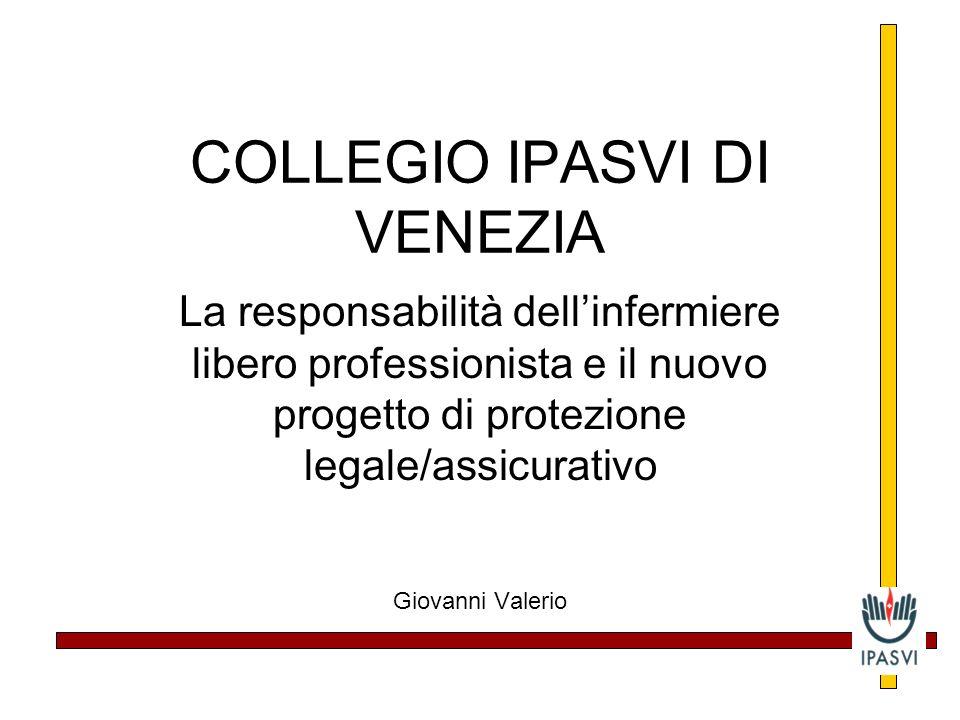 COLLEGIO IPASVI DI VENEZIA La responsabilità dellinfermiere libero professionista e il nuovo progetto di protezione legale/assicurativo Giovanni Valerio
