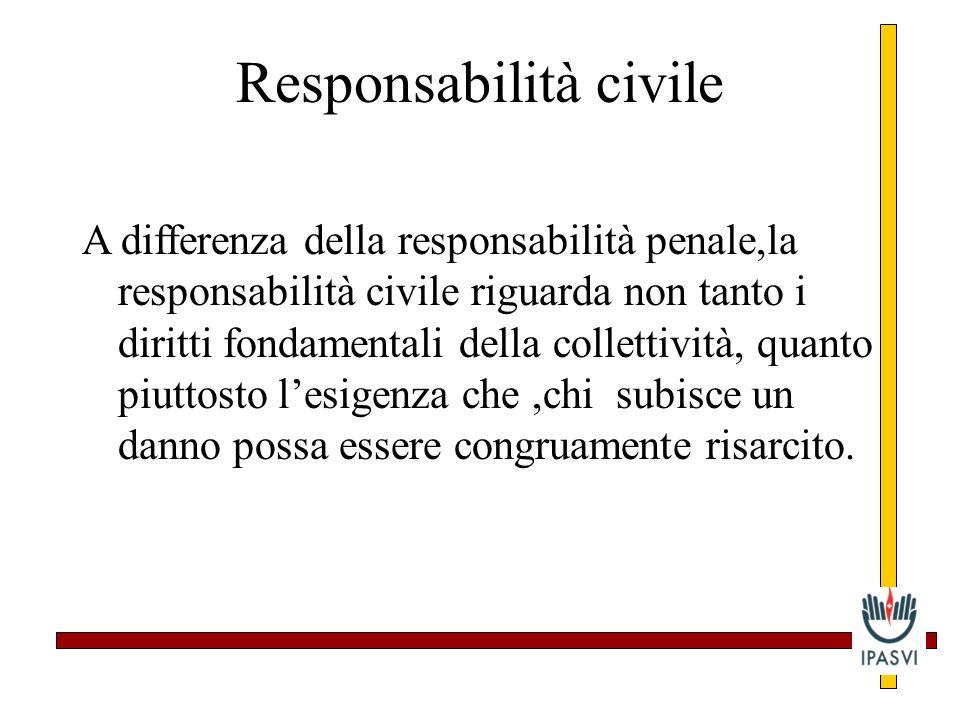 Che cosè la responsabilità penale Il carattere distintivo della responsabilità penale consiste nel fatto che essa è prevista dalle norme penali,cioè d