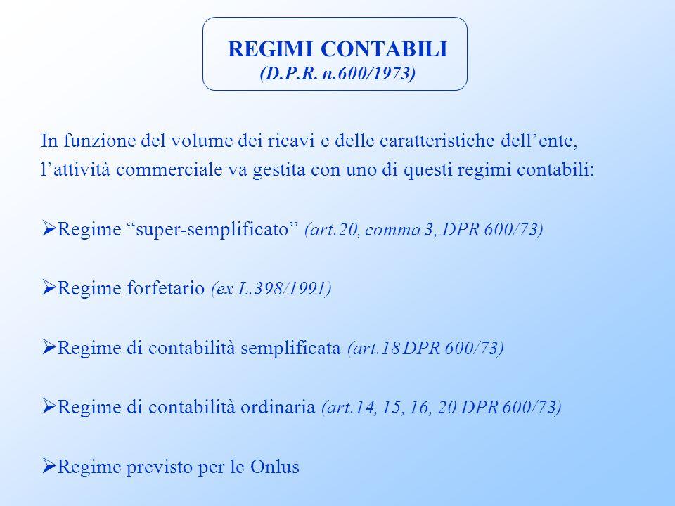 REGIMI CONTABILI (D.P.R.