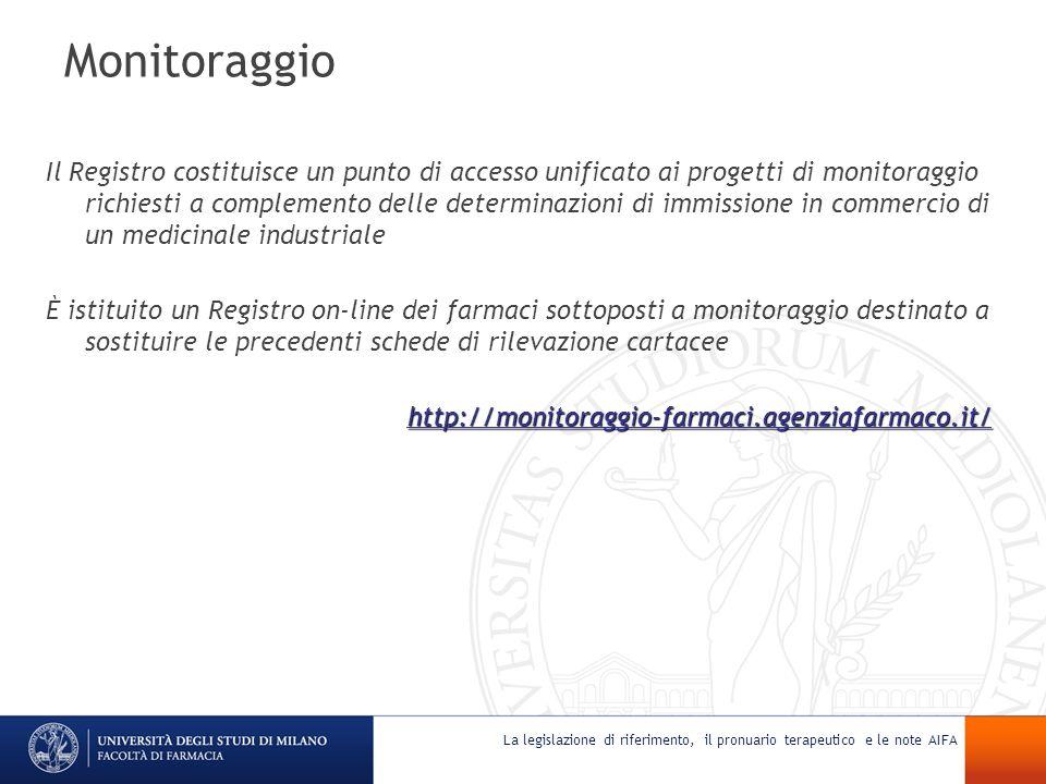 Monitoraggio Il Registro costituisce un punto di accesso unificato ai progetti di monitoraggio richiesti a complemento delle determinazioni di immissi