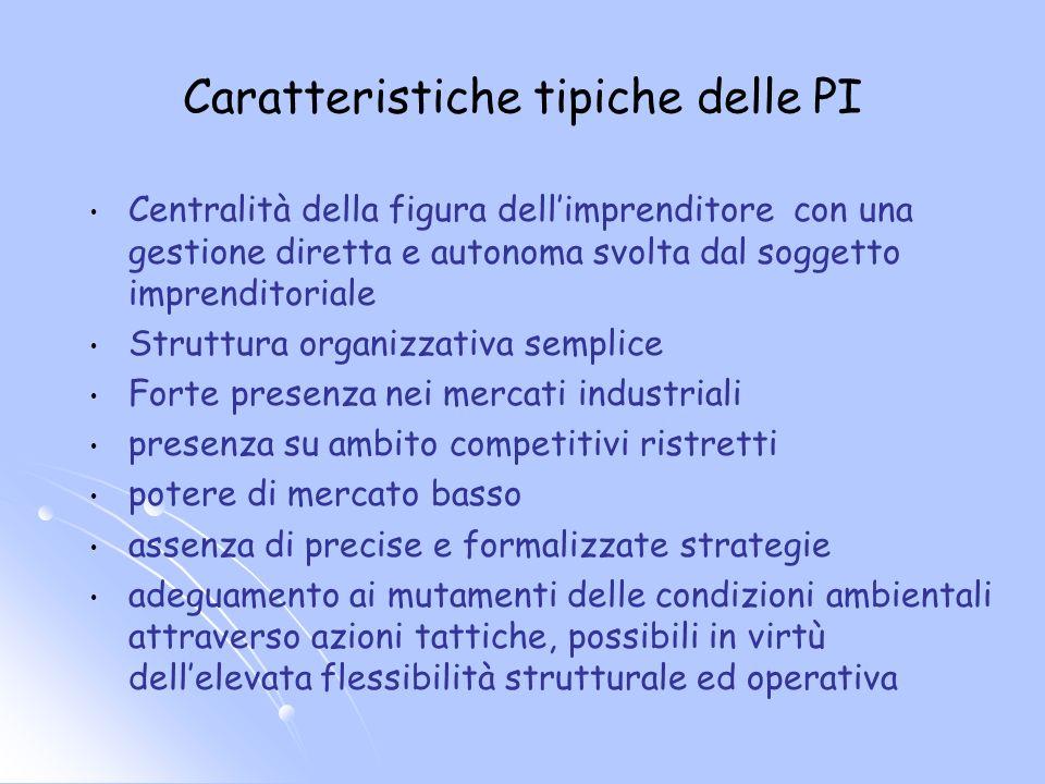 Centralità della figura dellimprenditore con una gestione diretta e autonoma svolta dal soggetto imprenditoriale Struttura organizzativa semplice Fort