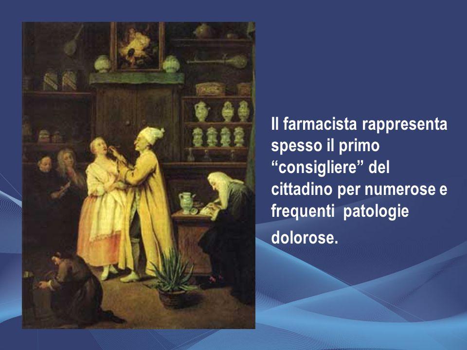 Il farmacista rappresenta spesso il primo consigliere del cittadino per numerose e frequenti patologie dolorose.