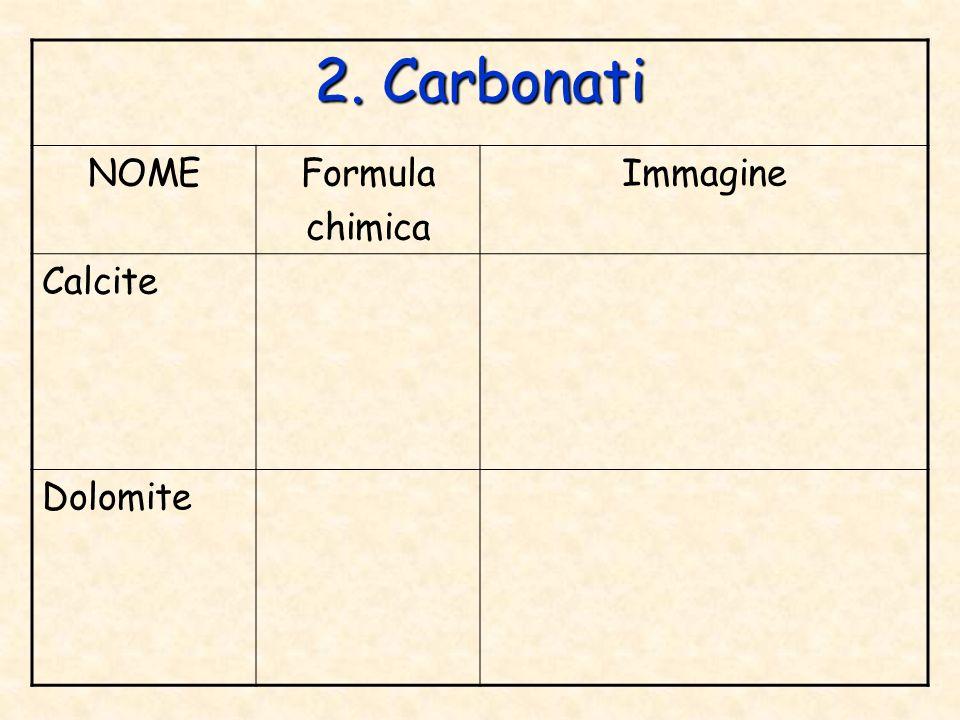 3. Ossidi NOMEFormula chimica Immagine Ematite Corindone