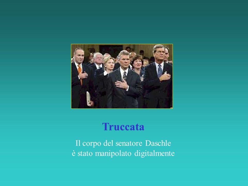 Truccata Il corpo del senatore Daschle è stato manipolato digitalmente