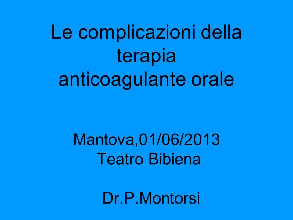 Cataratta Anestesia topica:no sospensione TAO Anestesia retrobulbare:sospensione della Tao 5 giorni prima e sostituzione con eparina