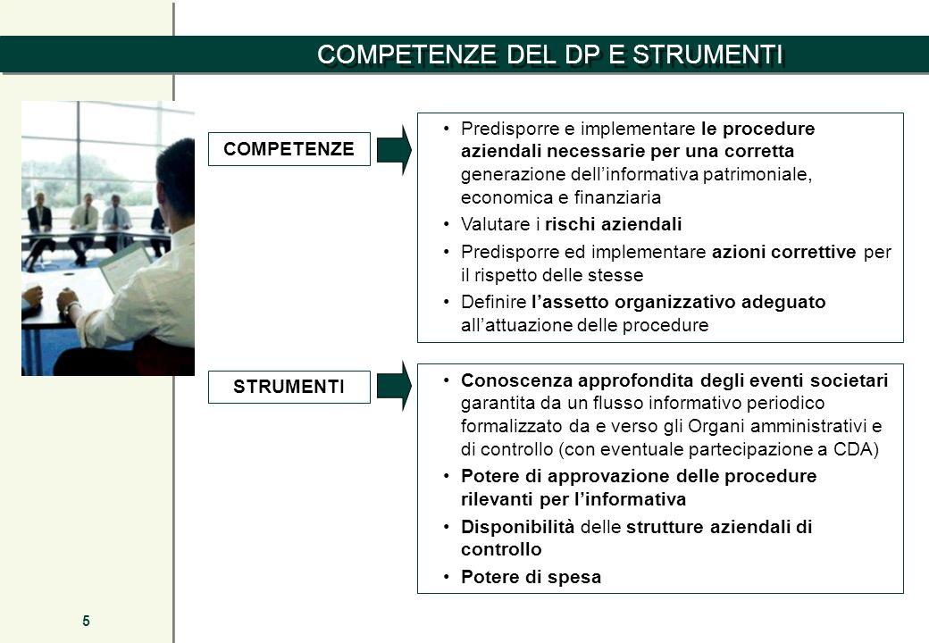 5 Predisporre e implementare le procedure aziendali necessarie per una corretta generazione dellinformativa patrimoniale, economica e finanziaria Valu