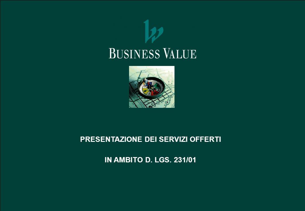 PRESENTAZIONE DEI SERVIZI OFFERTI IN AMBITO D. LGS. 231/01