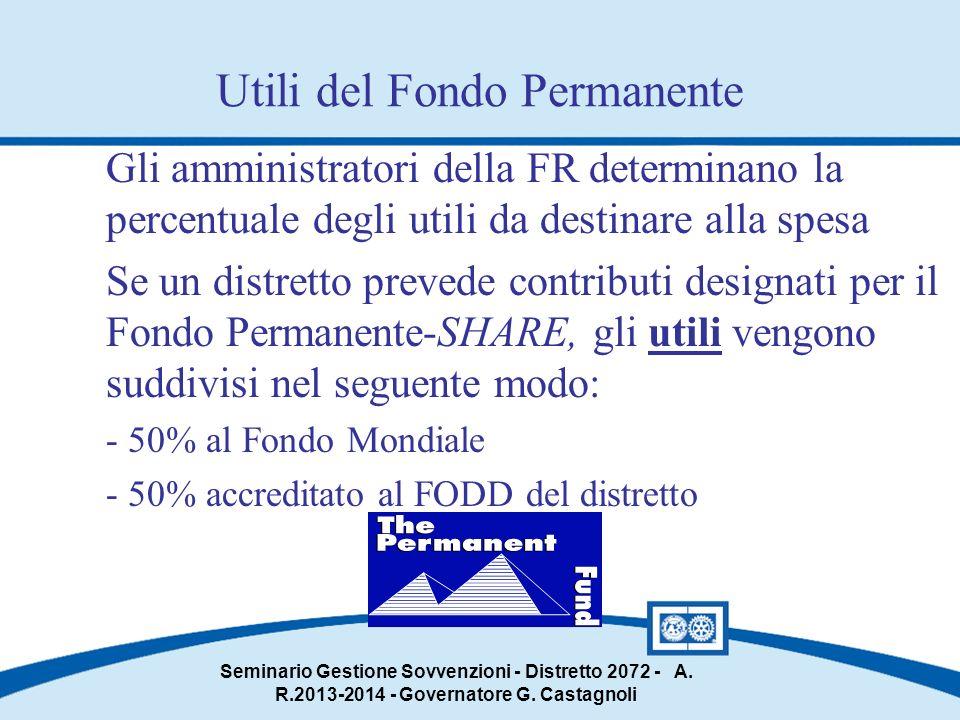 Seminario Gestione Sovvenzioni - Distretto 2072 - A.
