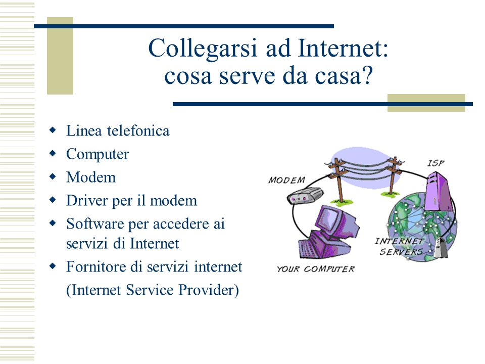 Collegarsi ad Internet: cosa serve da casa.