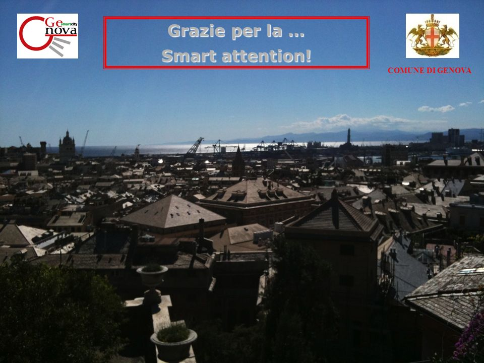 COMUNE DI GENOVA Grazie per la … Smart attention!