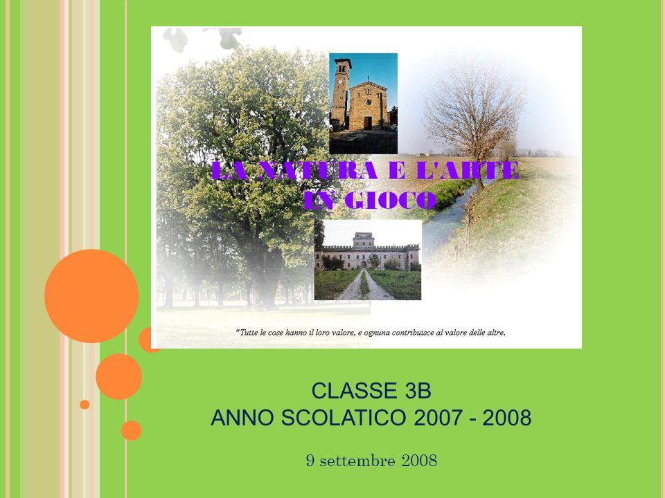 9 settembre 2008 CLASSE 3B ANNO SCOLATICO 2007 - 2008