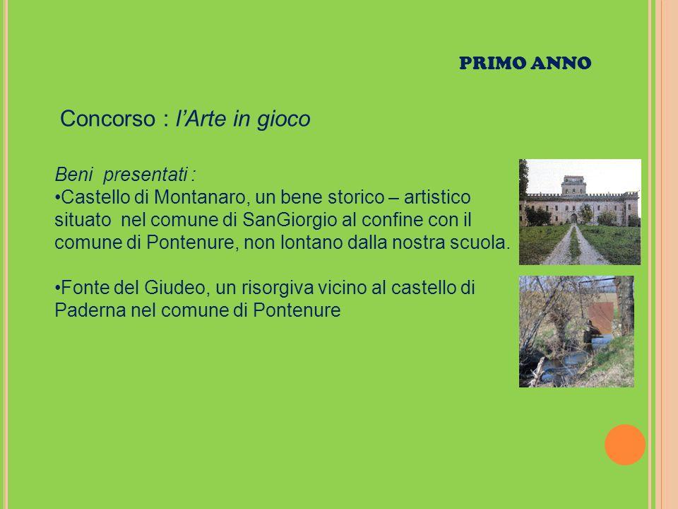 Beni presentati : Castello di Montanaro, un bene storico – artistico situato nel comune di SanGiorgio al confine con il comune di Pontenure, non lontano dalla nostra scuola.