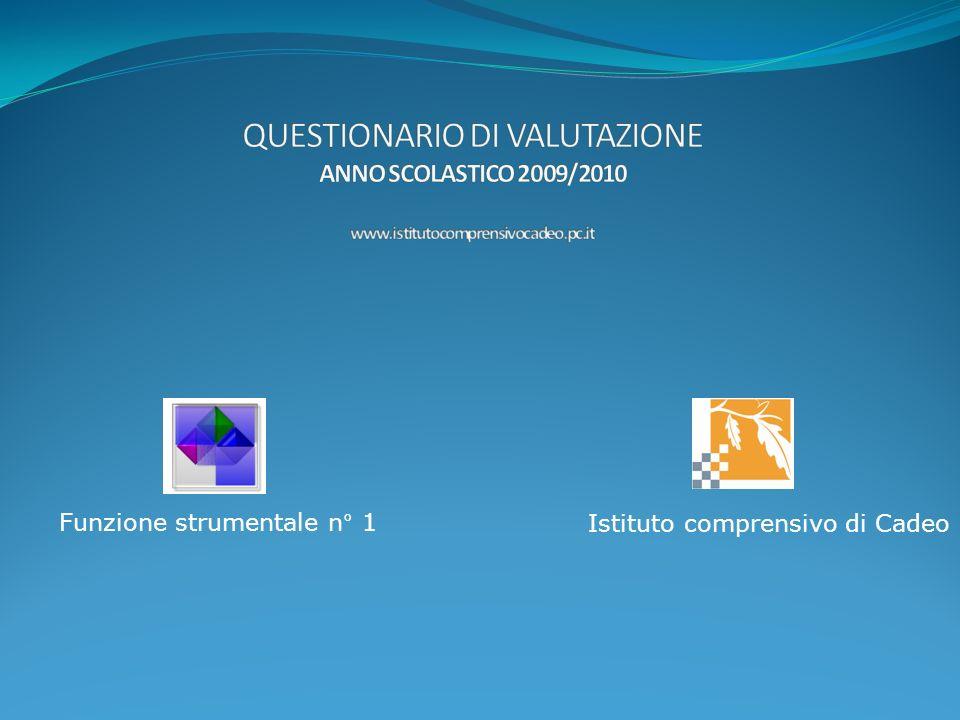 Questionario docenti Scuola primaria e secondaria Plessi di Pontenure e Cadeo a.s. 2009-10
