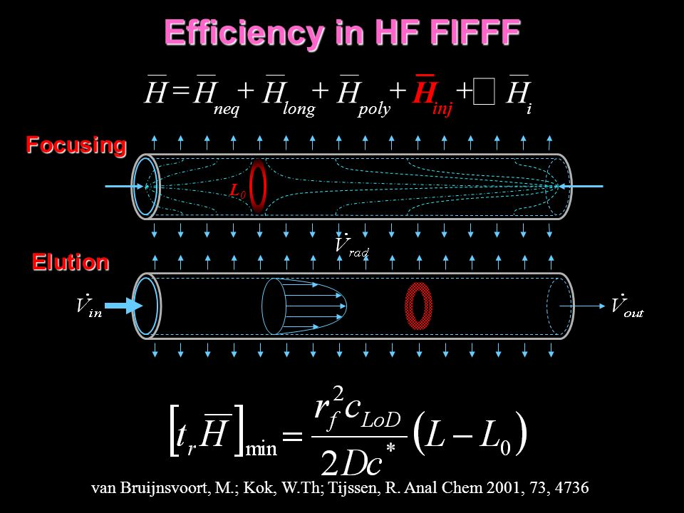 Efficiency in HF FlFFF ipolylongneq H inj HHHHH Focusing L0L0 van Bruijnsvoort, M.; Kok, W.Th; Tijssen, R.