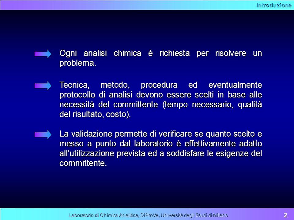 Carte di controllo 13 Laboratorio di Chimica Analitica, DiProVe, Università degli Studi di Milano La carta viene quindi posta in uso.