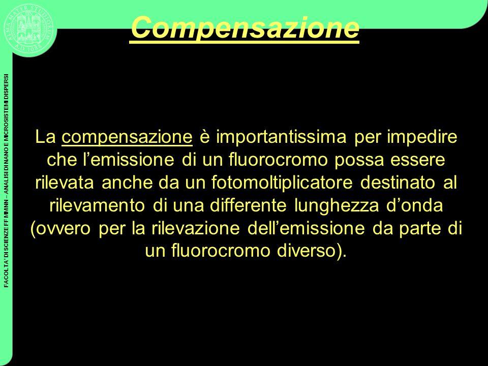 FACOLTA DI SCIENZE FF MM NN – ANALISI DI NANO E MICROSISTEMI DISPERSI Compensazione La compensazione è importantissima per impedire che lemissione di