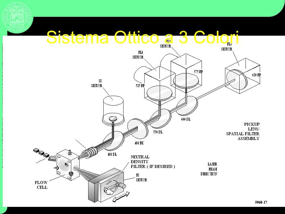 FACOLTA DI SCIENZE FF MM NN – ANALISI DI NANO E MICROSISTEMI DISPERSI Coulter Cytometry Sistema Ottico a 3 Colori