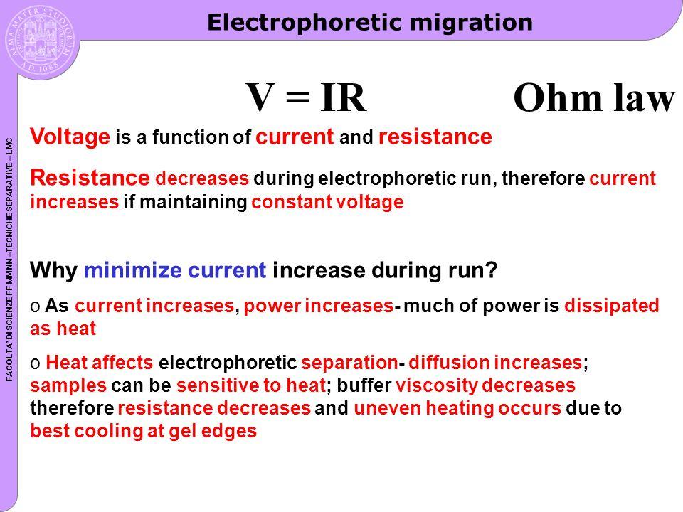 FACOLTA DI SCIENZE FF MM NN –TECNICHE SEPARATIVE – LMC Charge of a protein vs. pH