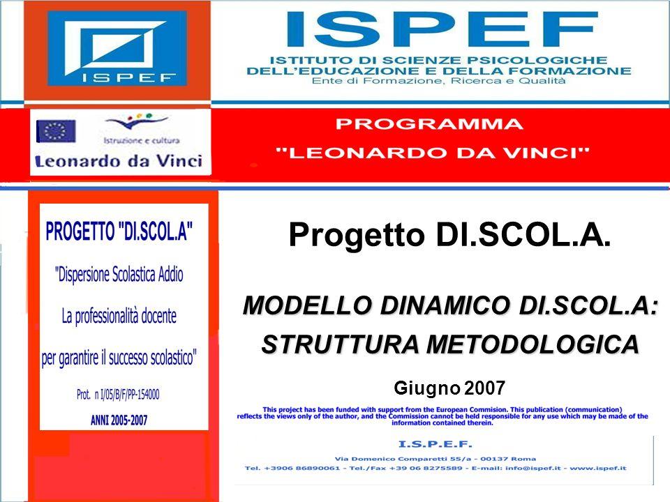 1 Progetto DI.SCOL.A. MODELLO DINAMICO DI.SCOL.A: STRUTTURA METODOLOGICA Giugno 2007