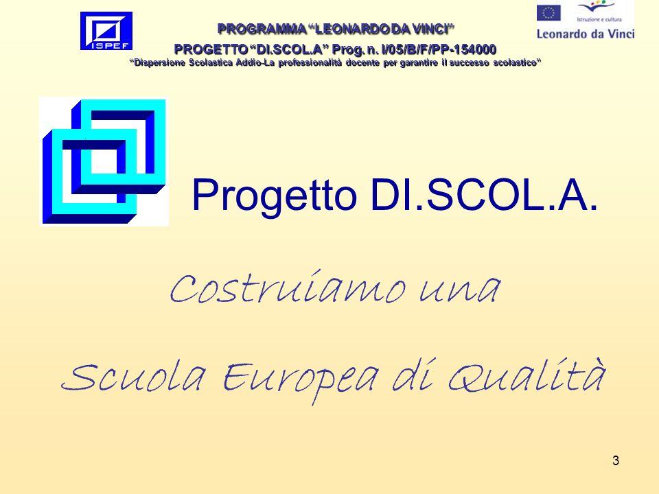 3 Costruiamo una Scuola Europea di Qualità Progetto DI.SCOL.A.