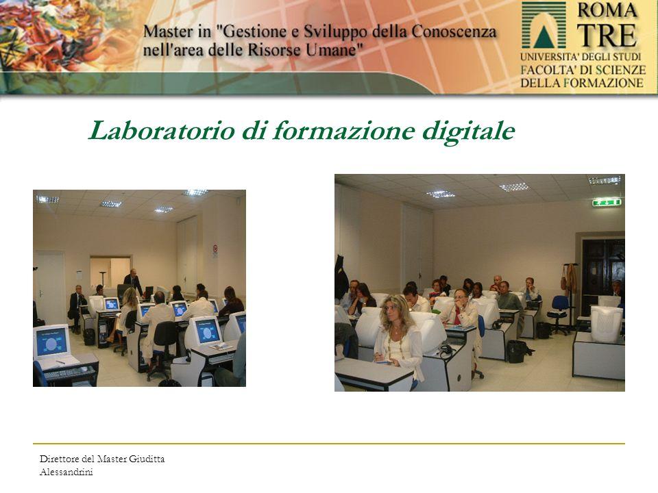 Direttore del Master Giuditta Alessandrini Laboratorio di formazione digitale