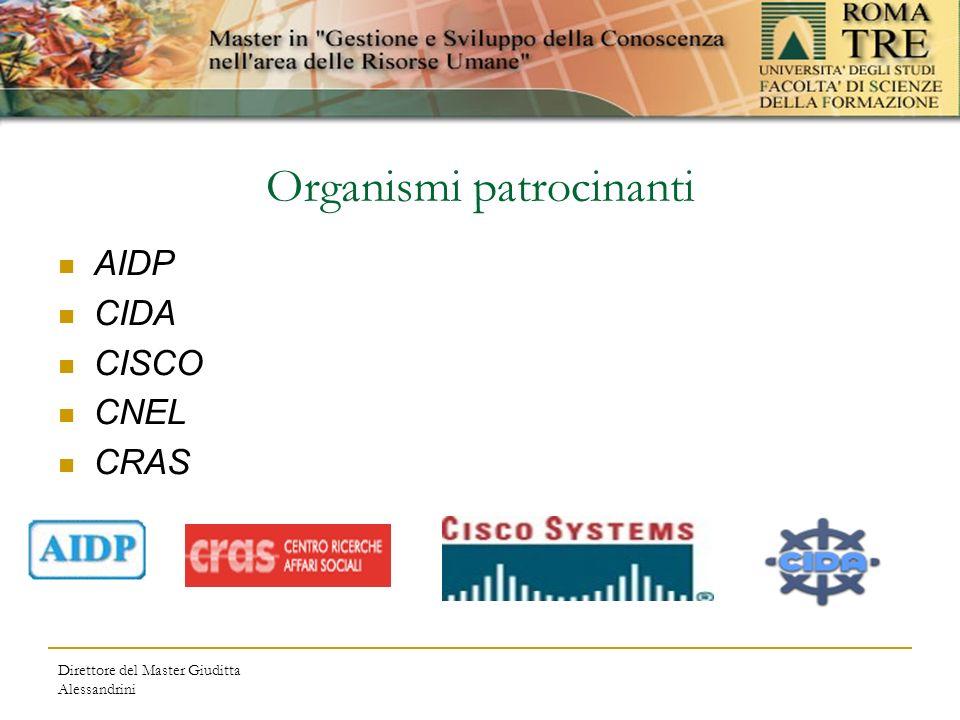 Direttore del Master Giuditta Alessandrini Organismi patrocinanti AIDP CIDA CISCO CNEL CRAS