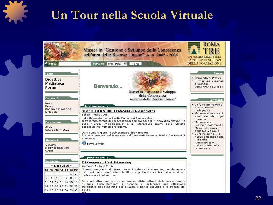 22 Un Tour nella Scuola Virtuale