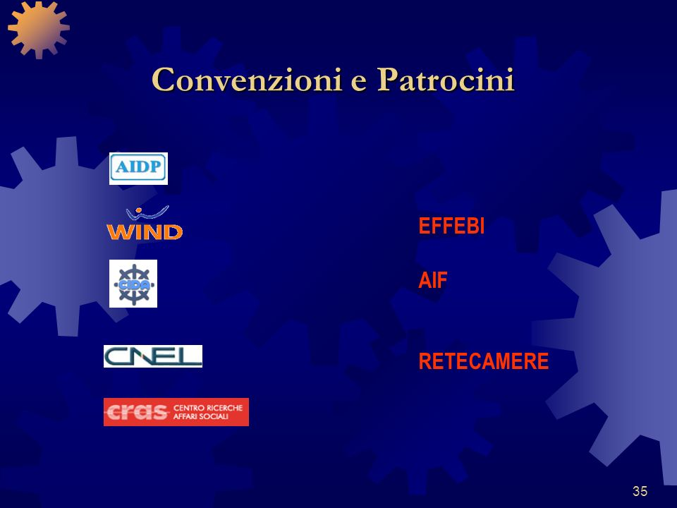 35 Convenzioni e Patrocini EFFEBI AIF RETECAMERE