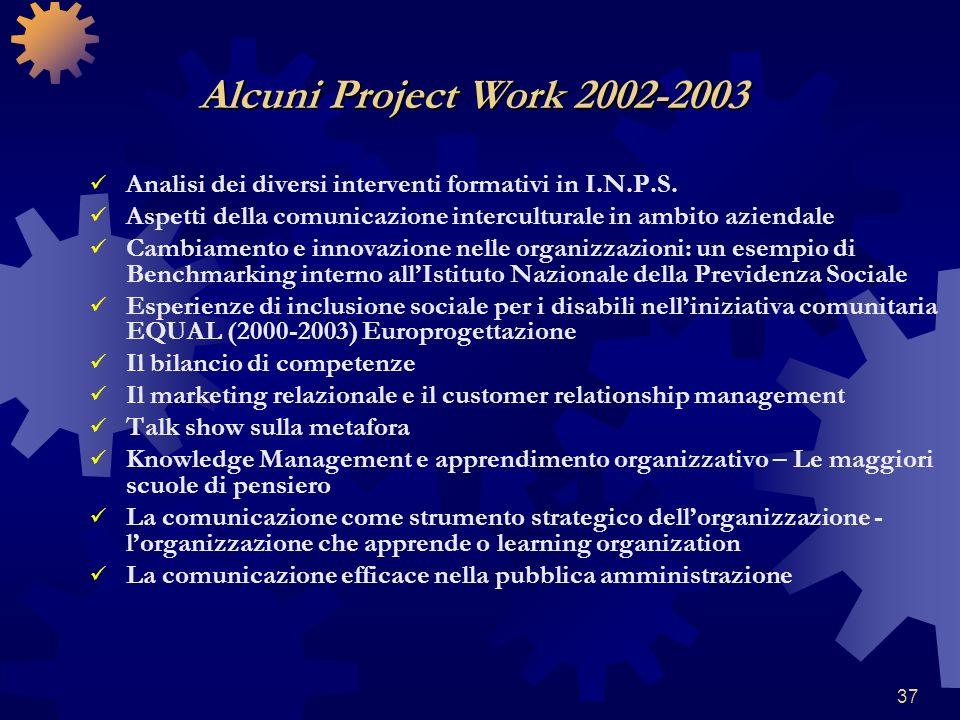37 Analisi dei diversi interventi formativi in I.N.P.S. Aspetti della comunicazione interculturale in ambito aziendale Cambiamento e innovazione nelle