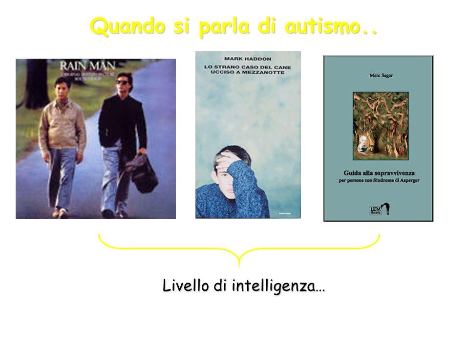 Spettro di Disturbi Autistici o Continuum di disturbi autistici Wing e Gould (1979): triadeWing e Gould (1979): triade a)anomalie nellambito dellinterazione sociale, b)anomalie nellambito della comunicazione, sia verbale che non verbale, intese soprattutto come intenzionalità comunicativa, c) immaginazione povera e stereotipata.c) immaginazione povera e stereotipata.