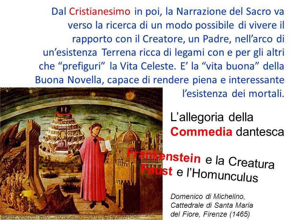 Dal Cristianesimo in poi, la Narrazione del Sacro va verso la ricerca di un modo possibile di vivere il rapporto con il Creatore, un Padre, nellarco d