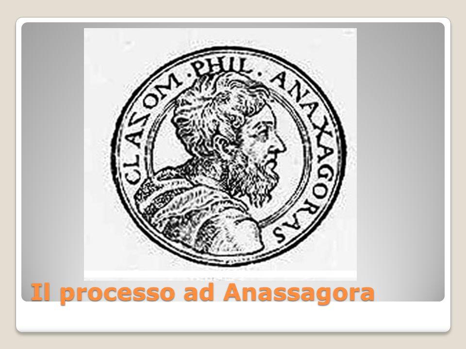 Trasferitosi ad Atene dalla Ionia, Anassagora divenne maestro e consigliere di Pericle statista impegnato nel rinnovamento politico e culturale della città, progressista che si circondava di filosofi e scienziati, non conservatore